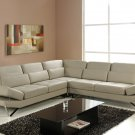 Bianca Sectional Sofa in Beige Leather
