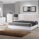 Verona Queen Size Bedroom Set in White Finish by J&M