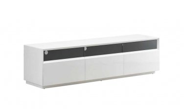 J&M TV023 TV Stand in White Gloss Finish