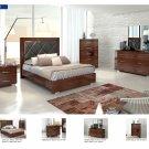 Antonelli 5pc Walnut King Size Bedroom Set