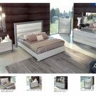 Mangano 5pc White/Silver King Size Bedroom Set