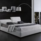 Tower Storage Queen Size Bed in White Color by J&M
