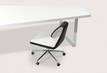 Gakko Office Chair in PPM Italian Leatherette by sohoConcept