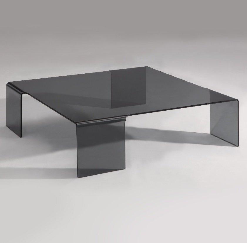 Square Coffee Table Grey: Square Grey Glass Coffee Table