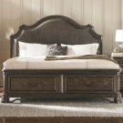 Carlsbad King Storage Bed with Upholstered Headboard