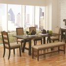 Arcadia Industrial Style 6 Piece Dining Set