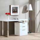 Modern White Reversible Office Desk