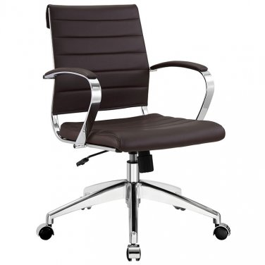 Marco Modern Office Chair in Brown Vinyl