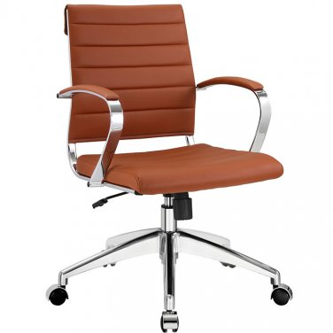 Marco Modern Office Chair in Terracotta Vinyl