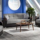 Luna Sofa Bed , Loveseat and Chair in Fulya Grey