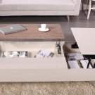 Motion Beige Gloss/Acacia White Storage Coffee Table