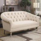 Valentin Oatmeal Traditional Style Love Seat