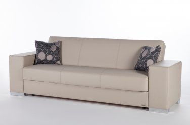 Kobe Sofa Bed with Storage in Santa Glory Cream