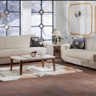 Kobe Sofa Bed and Love Seat in Santa Glory Cream