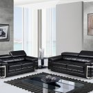 U7940 Sofa and Love seat in Black Bonded Leather  by Global