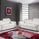 U7940 Sofa and Love seat in Off White Bonded Leather  by Global