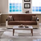 Luna Sofa Bed , Loveseat and Chair in Troya Brown