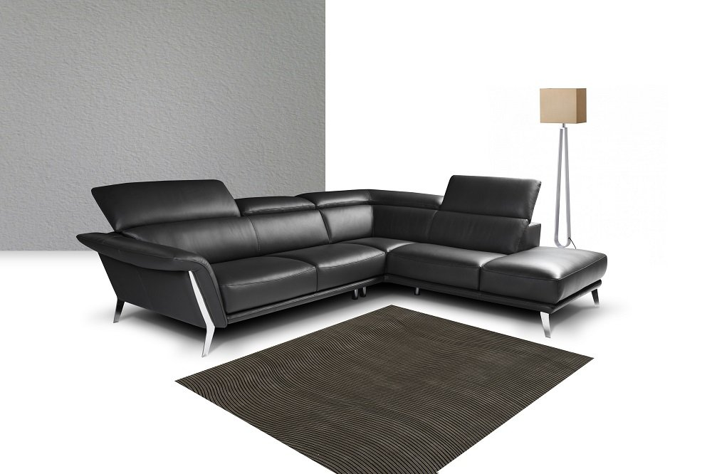 Heni Premium Leather Sectional by J&M Furniture