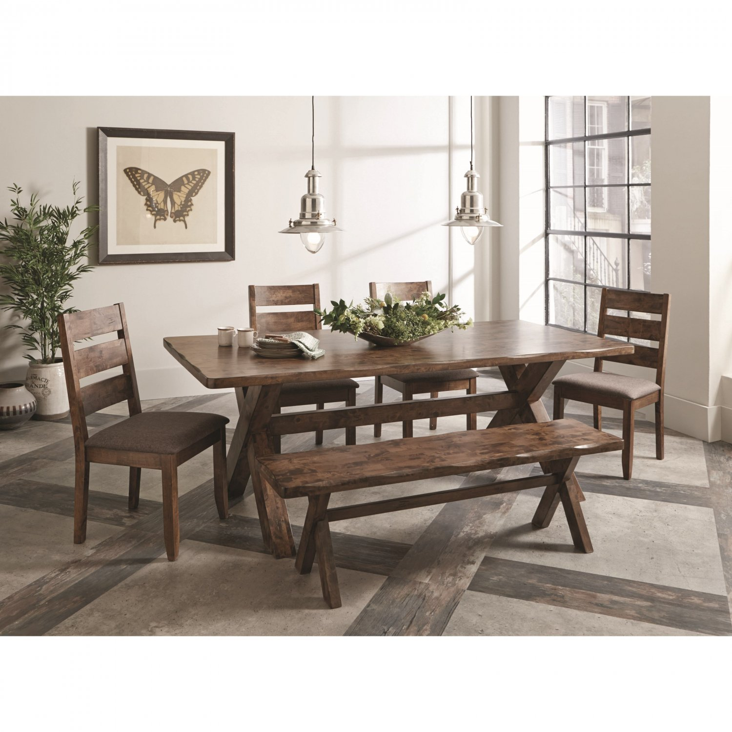 Alston Contemporary 6 Piece Dining Set