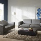 King Leather Sofa and Loveseat