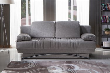 Fantasy Convertible Sofa Bed with Storage in Valencia Gray