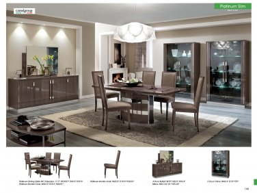 Modern Platinum Slim 5PC Dining Set in Walnut