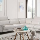 Lauren Off White Half Leather Sectional