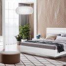 Onda Legno White Finish 5pc King Bedroom Set