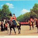 Queen Postcard Trooping the Colour Horseback London