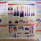 GMC Chevrolet Place Mat Use & Care Brushes Chart c50's