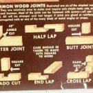 GMC Chevrolet Place Mat Mouldings Lumber Chart c50's