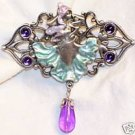 "Artifacts Purple Mystic Lady - 3"" Metal Pin circa 1990"