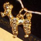 Poodle Dog Charm NEW Forevergold by Santogold MIP...10060