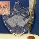 Mikasa Holiday Song Glass Bell Heart Ornament...10017