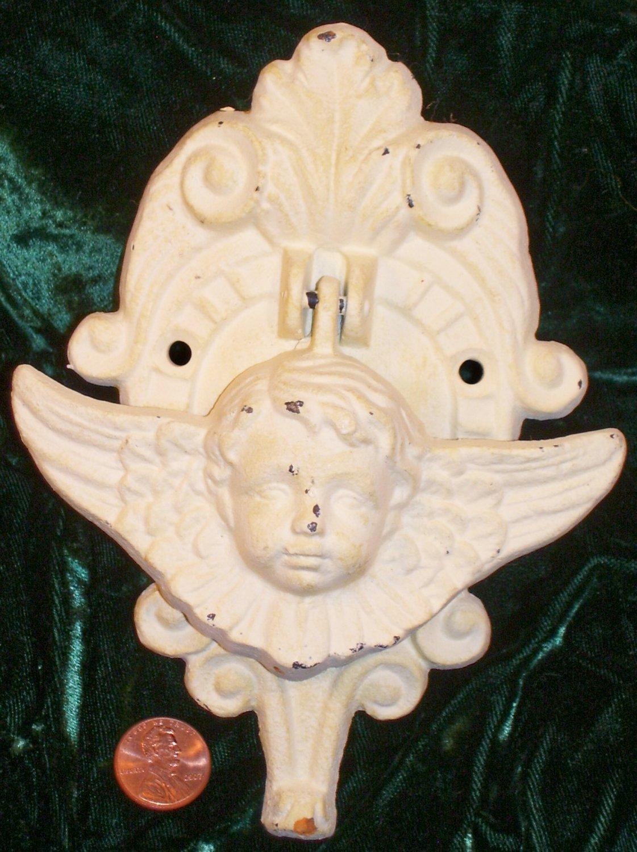 """Cast Iron Angel Door Knocker painted """"new"""" antique...10016"""