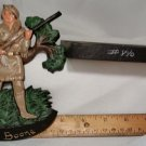 Vintage Wilton Cast Iron Daniel Boone Wall Plaque MIB