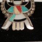 Vintage Kachina Thunderbird Coral Turquioise Onix MOP Inlay RING SIZE 6.5