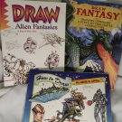 Draw Alien Fantasies, Reinagle  How to Draw  Alien & UFO's Draw Fantasy 3 books
