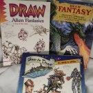 Draw Alien Fantasies, Reinagle  How to Draw  Alien & UFO's Draw Fantasy 3 books