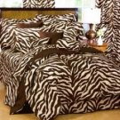 "1000TC Zebra Brown 24"" Super Deep Pocket Queen Sheet Set 100% Pure Egyptian Cotton"