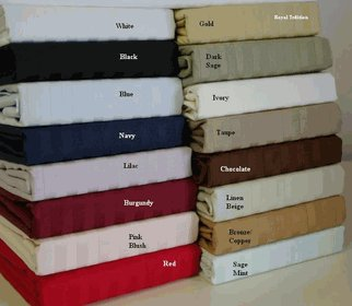 600 Thread count Queen size Sateen Stripe Sheet Set 100% Egyptian cotton