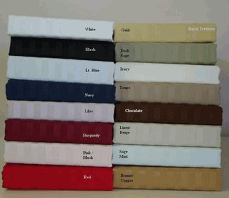 TC300 Twin size Stripe 100% Egyptian cotton Sheet set