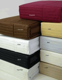Full Size Pin-Stripe T310 Egyptian cotton Sheet sets