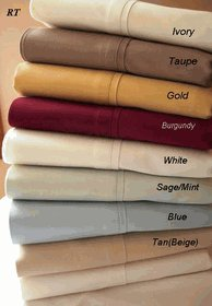 TC300 Queen size sheets Solid 100% Egyptian cotton sheet set
