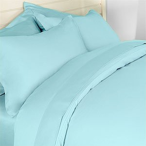 Deep Pocket Ocean Blue Fitted Sheet 600TC Queen Size 100% Egyptian Cotton
