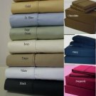 Cal King Size Deep Pocket Blue Fitted Sheet 600TC 100% Egyptian Cotton