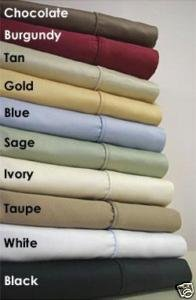 Deep Pocket Twin XL Burgundy Fitted Sheet 600TC 100% Egyptian Cotton