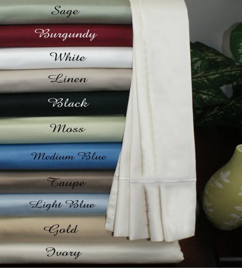 Deep Pocket Twin Blue Fitted Sheet 600TC 100% Egyptian Cotton
