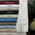 Deep Pocket Twin Burgundy Fitted Sheet 600TC 100% Egyptian Cotton