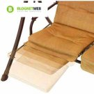 Outdoor Swing With Canopy Cover And Pullout Ottomans Tan Porch Patio 2 Person
